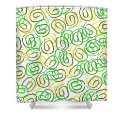 Twirls Shower Curtain by Louisa Knight