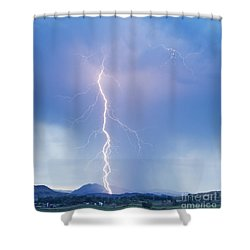 Twisted Lightning Strike Colorado Rocky Mountains Shower Curtain by James BO  Insogna