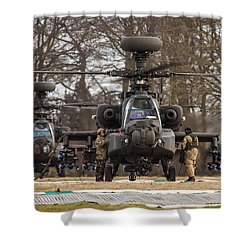 Two Ah64 Apaches Shower Curtain