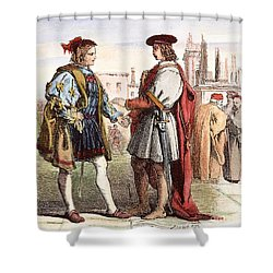 Two Gentlemen Of Verona Shower Curtain by Granger