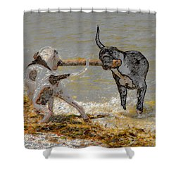 Two Good Friends Shower Curtain by David Lee Thompson