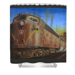 Two Minutes Late Shower Curtain by Christopher Jenkins