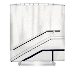 Two Rails Shower Curtain by CML Brown
