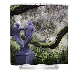 Two To Tango Shower Curtain by Teresa Mucha