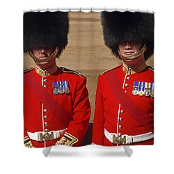 Two Warrant Officers Of The Irish Shower Curtain by Andrew Chittock