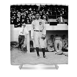 Ty Cobb Shower Curtain by Bill Cannon