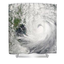 Typhoon Prapiroon Shower Curtain by Stocktrek Images