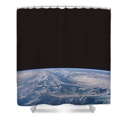 Typhoons Odessa And Pat, Seen Shower Curtain by NASA / Science Source