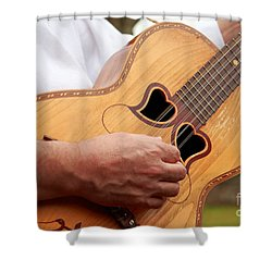 Typical Azores Guitar Shower Curtain by Gaspar Avila