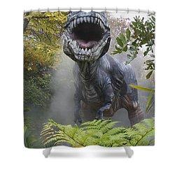 Tyrannosaurus Shower Curtain by David Davis and Photo Researchers