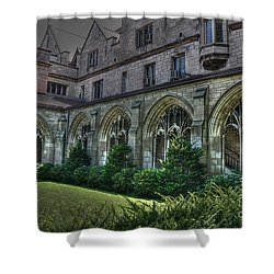 U Of C Grounds Shower Curtain by David Bearden