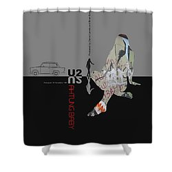 U2 Poster Shower Curtain by Naxart Studio