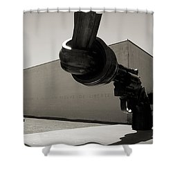 Un Fleuve De Liberte Shower Curtain by RicardMN Photography