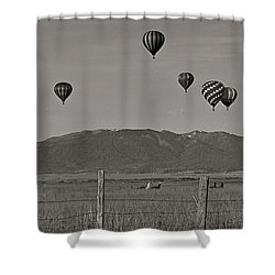 Shower Curtain featuring the photograph Unconcerned Lamas by Eric Tressler