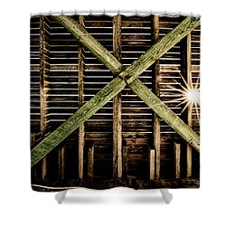 Under The Pier Shower Curtain by Christopher Holmes