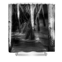 Under The Pier Shower Curtain by Paul Ward