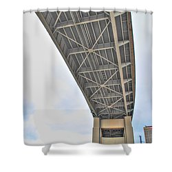 Shower Curtain featuring the photograph Under The Skyway by Michael Frank Jr