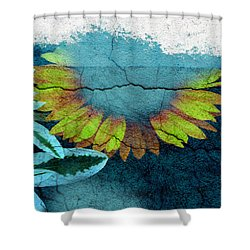 Underwater Sun Shower Curtain by The Artist Project
