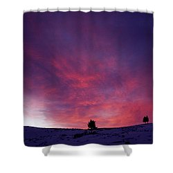 Shower Curtain featuring the photograph Undine Sunset by J L Woody Wooden