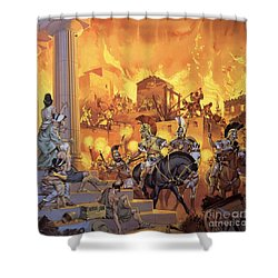 Unidentified Roman Attack Shower Curtain by Angus McBride