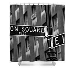 Union Square West Shower Curtain by Susan Candelario