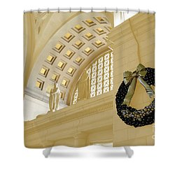 Union Station Holiday Shower Curtain by Jost Houk