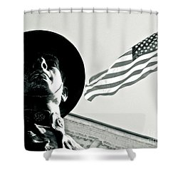 United We Stand Theme Shower Curtain by Syed Aqueel