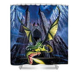 Unleashed Shower Curtain by The Dragon Chronicles
