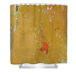Untitled Abstract - Ochre Cinnabar Shower Curtain