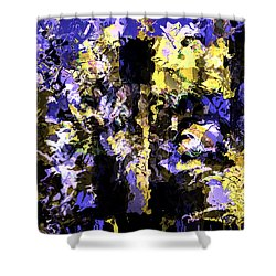 Untitled Blue Shower Curtain by Terence Morrissey