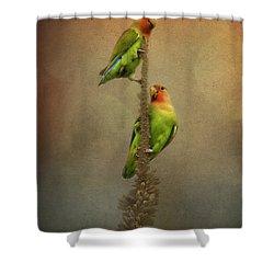 Up And Away We Go Shower Curtain by Saija  Lehtonen