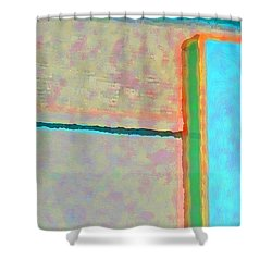Shower Curtain featuring the digital art Up And Over by Richard Laeton