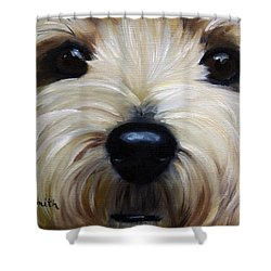 Up Close And Personal IIi Shower Curtain by Mary Sparrow