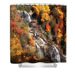 Shower Curtain featuring the photograph Upper Whitewater Falls by Lynne Jenkins