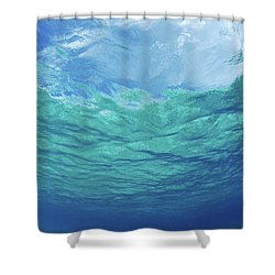 Upward To Surface Shower Curtain by Don King - Printscapes