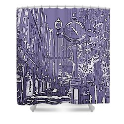 Urban Timepiece Shower Curtain by Tim Allen