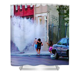 Urban Waterpark Shower Curtain by Bill Cannon