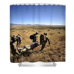 U.s. Air Force Pararescuemen Carry Shower Curtain by Stocktrek Images