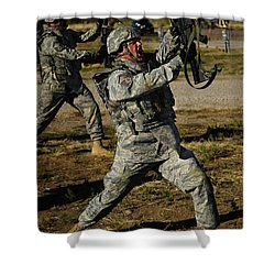 U.s. Air Force Soldier Practices Shower Curtain by Stocktrek Images
