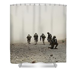 U.s. Army Captain Provides Security Shower Curtain by Stocktrek Images