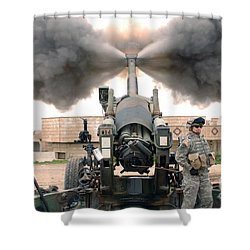 U.s. Army Soldiers Conduct Shower Curtain by Stocktrek Images
