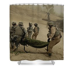 U.s. Army Soldiers Medically Evacuate Shower Curtain by Stocktrek Images