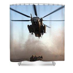 U.s. Marines Preparing To Attach An Shower Curtain by Stocktrek Images