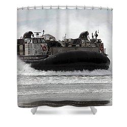 U.s. Navy Landing Craft Air Cushion Shower Curtain by Stocktrek Images