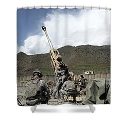 U.s. Soldiers Prepare For Their Next Shower Curtain by Stocktrek Images