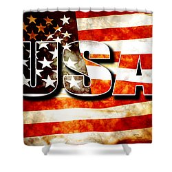 Usa Old Glory Flag Shower Curtain by Phill Petrovic