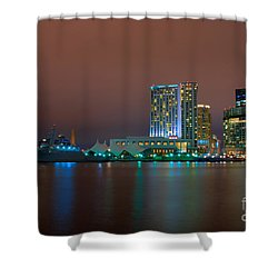 Uscgc Eagle And Inner Harbor East Shower Curtain