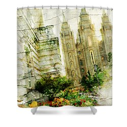 Use It Slc Shower Curtain by La Rae  Roberts