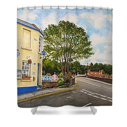 Usk Police Station  Shower Curtain by Andrew Read