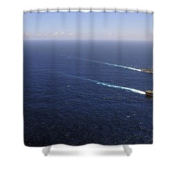 Uss Boxer, Uss Comstock And Uss Green Shower Curtain by Stocktrek Images